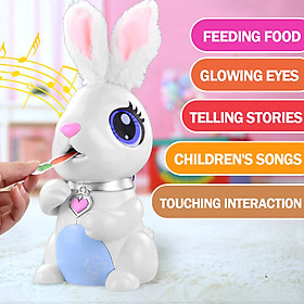 Hungry Bunnies Interactive Robotic Rabbit English Story Music Toy Early Educational Toy for Kids