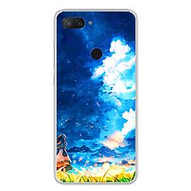 Ốp lưng dẻo cho điện thoại Xiaomi Mi 8 Lite - 0293 LITTLEGIRL - Hàng Chính Hãng