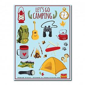 Hình dán cao cấp - Premium Sticker - Let's go camping