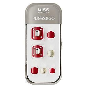 Bộ 24 Móng Chân Gel Dán Press & Go Kiss New York Nail Box - Hera (KPT25K)