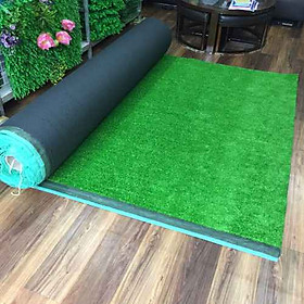 Thảm cỏ nhựa nhân tạo sợi cỏ dài 1cm.