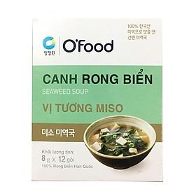 Hộp 12 Gói Canh Rong Biển Vị Tương Miso O'Food (8Gram/ Gói)