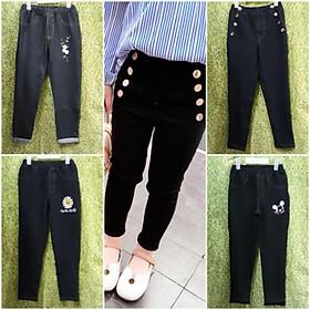 (Vừa về lô mới bổ sung)Quần dài giả jeans hàng đẹp cho bé gái size đại 23-45kg