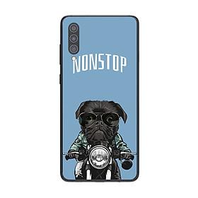 Ốp điện thoại in họa tiết Pug đen trên xe máy dành cho điện thoại Samsung Galaxy A30S