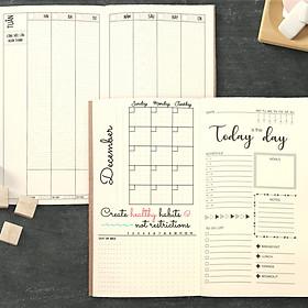 """Sổ tay planner MIX TỔNG HỢP Tháng + tuần + ngày """"Kế hoạch trọn đời"""" - Lịch tháng / Kế hoạch Tuần / Nhắc việc ngày / Chấm bi"""
