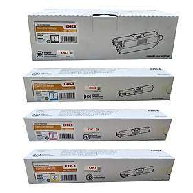 Bộ 4 hộp mực màu máy in OKI C321dn (đen,xanh,đỏ,vàng) hàng chính hãng