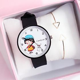 Đồng hồ nam nữ thời trang bé Maruko dây silicon nhiều màu cá tính ZO32
