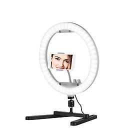 Đèn LED RGB Chụp Ảnh Selfie Để Bàn Kèm Giá Đỡ Bảng Gương Điện Thoại (13 inch) (35W) (3200K-7000K)