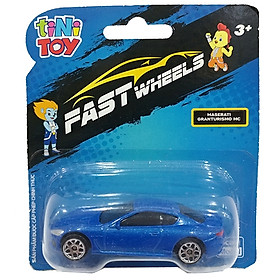 Đồ Chơi Xe Tốc Độ FastWheels 3 Inch - 342000S - Maserati GranTurismo MC - Màu Xanh