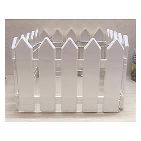 Hàng Rào Nhựa Lắp Ghép Dài 1,6m Cao 20cm Trang Trí Vườn Cây