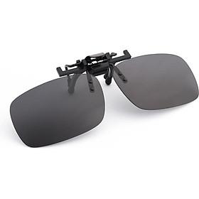 Boliliang Polarized Sunglasses Clips Upturned Driver Driving Mirrors Sunglasses Clips Myopia Clips Universal Black Gray BL702