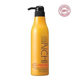 Gel Cứng Livegain Premium Rich Protein Hair Gel (Hard) 500ml Hàn Quốc