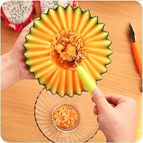 COMBO 2 thìa xúc tạo hình trái cây đa năng (nhiều màu) (kèm dụng cụ cắt tỉa trái cây)