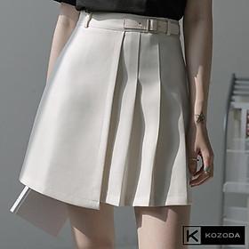Chân váy xếp ly tennis ngắn chữ a nữ ulzzang đen trắng cạp lưng cao vintage đẹp hàn quốc cá tính Kozoda Cv20