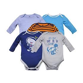 Set 5 body cho bé sơ sinh, quần áo thu đông cho bé