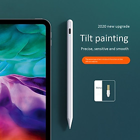 ESCASE ipad capacitive pen Apple pencil one or two generation 2019 stylus mini5 touch screen pro2 painting air3 tablet pen d anti-mistouch second generation professional white