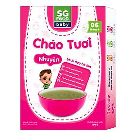 Cháo Tươi Nhuyễn Bò Và Đậu Hà Lan SG Food (150g)