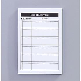 Tập Giấy Note Học Từ Vựng Ghi Nhớ Nhanh Vocabulary List