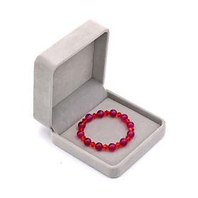 Vòng đeo tay chuỗi hạt đá thạch anh đỏ 8 ly FTTOV40 kèm hộp nhung