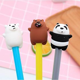 Bút Bi Viết Gấu Mập Siêu Dễ Thương - Bút Bi Nước Văn Phòng Mực Đen ( Phát Màu Ngẫu Nhiên )