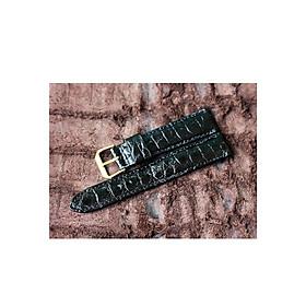 Dây đồng hồ cá sấu da hông DDH-611D