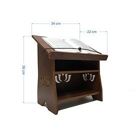Kệ để kinh phật hoa sen bằng gỗ MDF phủ Melamine 2 mặt/ Bàn tụng kinh/ bàn đọc sách