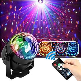 Đèn nháy theo nhạc led cầu hiệu ứng 7 màu , đèn bay cho phòng karaoke có remote điều khiển từ xa tiện lợi