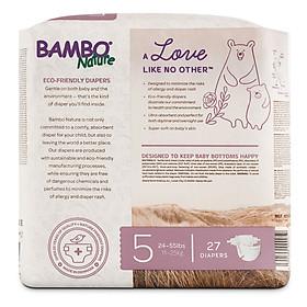 Thùng Tã Dán Em Bé Hữu Cơ Bambo Nature - gốc Đan Mạch - 11-25kg - XL27 - 6 gói - 27 miếng-1
