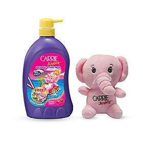 Sữa tắm gội cho bé Carrie Junior hương Cherry 700g + Voi bông (màu ngẫu nhiên)