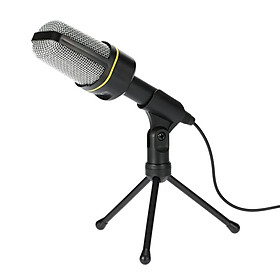 Desktop Microphone With Tripod Pro Podcast Studio Microphone For Notebook /Pc(3.5Mm Jack / 2.1M Cable) Recording Voice And Acoustic Instrument