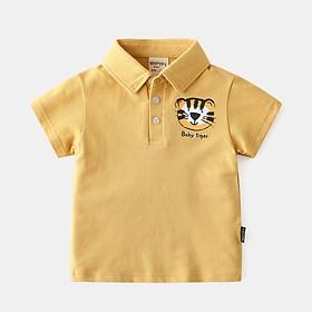 Áo Polo In Hình Mặt Hổ Bé Trai 10kg đến 25kg - Vải Cotton 100% - Mã BEEPL001 (Nhiều Lựa Chọn)