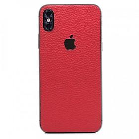 Hình đại diện sản phẩm Ốp dán da iPhone XS - Da thật nhập khẩu cao cấp (Đỏ vân)