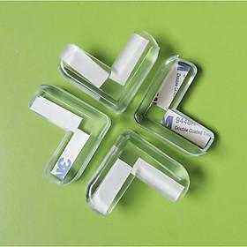 [COMBO 4 Chiếc] Miếng bọc góc bàn hình chữ L bằng nhựa mềm bảo vệ an toàn cho trẻ nhỏ - Có sẵn keo dán 3M 4 góc