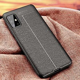 Ốp lưng silicon dẻo giả da chính hãng Auto Focus cao cấp dành cho Samsung A51