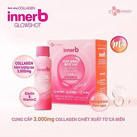 Hộp 6 chai nước uống Collagen Vitamin C sáng da InnerB Glowshot (50mlx6) - Tặng Kèm Cột Tóc Nơ BERAV Handmade Annie Ribbon