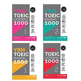 Combo YBM TOEIC 1000 4 Vol (Trọn Bộ 4 Cuốn): YBM TOEIC Reading 1000 Trọn Bộ 2 Tập + YBM TOEIC Listening 1000 Trọn Bộ 2 Tập