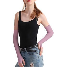 Găng tay chống nắng nữ, chống tia UV cao cấp xỏ ngón