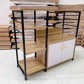 Kệ lò vi sóng đa năng có tủ gỗ 4 tầng - tối ưu diện tích- màu ngẫu nhiên