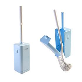 Bộ 2 chổi cọ vệ sinh Toilet có hộp đựng tiện lợi - Hàng nội địa Nhật