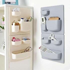 Combo 2 Kệ dán tường, dán tủ lạnh tiện dụng