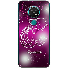 Ốp lưng dành cho Nokia 7.2 mẫu Cung hoàng đạo Aquarius (hồng)