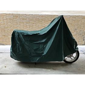 Tấm bạt dù phủ xe máy màu xanh cổ vịt loại dày, bền tốt GD0044