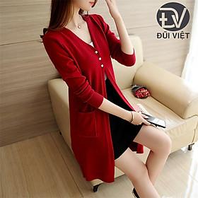 Áo khoác cadigan nữ, áo khoác len dài phong cách Hàn Quốc DV33