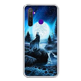 Ốp lưng điện thoại Realme 5 Pro - Silicon dẻo - 0485 Wolf04 - Hàng Chính Hãng