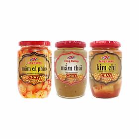 Combo 1 Hũ Mắm Cà Pháo Chay 390g + 1 Hũ Mắm Thái Chay 430g + Hũ Kim Chi Chay 390g Sông Hương Foods