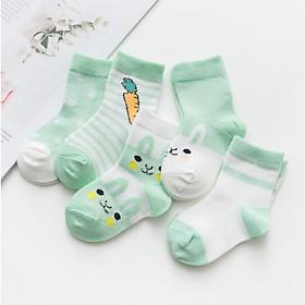 Set 5 đôi tất vớ trẻ em (size cho bé từ 0-6 tuổi)