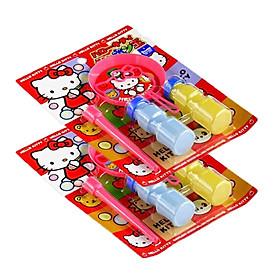 Combo Bộ thổi bong bóng xà phòng Kitty nội địa Nhật Bản