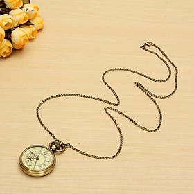 Vintage Antique Bronze Glass Steampunk Pocket Watch Chain Pendant 1x