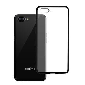 Ốp lưng Realme C1 - Bề mặt nhám chống vân tay, lưng cứng, viền TPU dẻo - 02093 - Hàng Chính Hãng