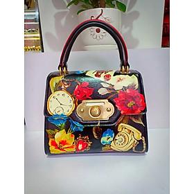 Túi xách thời trang nữ cao cấp - họa tiết hoa